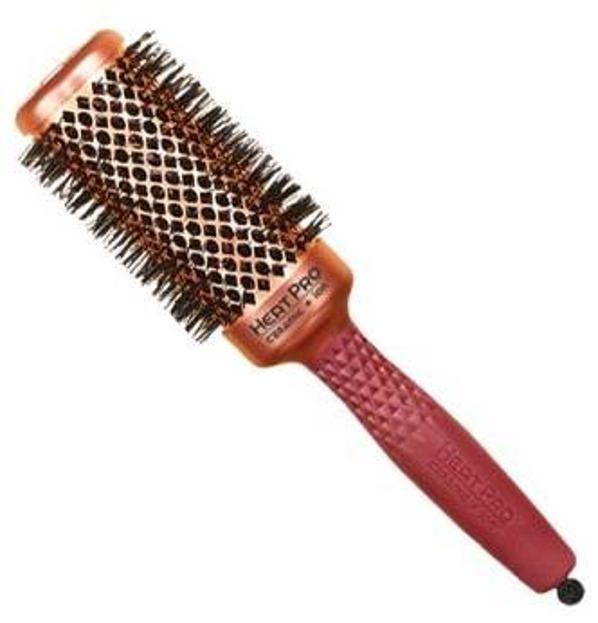 Olivia Garden Szczotka do włosów Heat Pro czerwona okrągła HP-42
