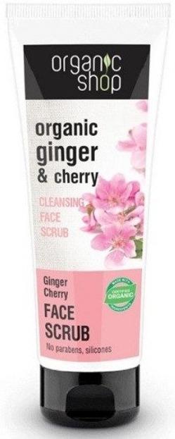 Organic Shop Peeling oczyszczający do twarzy wiśnia i imbir 75 ml