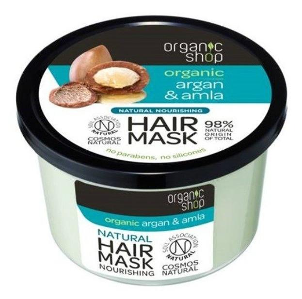 Organic shop Maska do włosów Argan&Amla 250ml