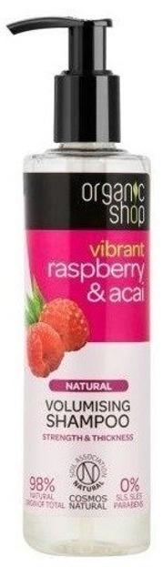 Organic shop Zwiększający objętość szampon do włosów Rasberry&Acai 280ml