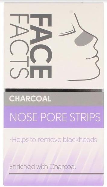 Pretty Smooth Charcoal Nose Pore Strips Oczyszczające płatki na nos 6szt.