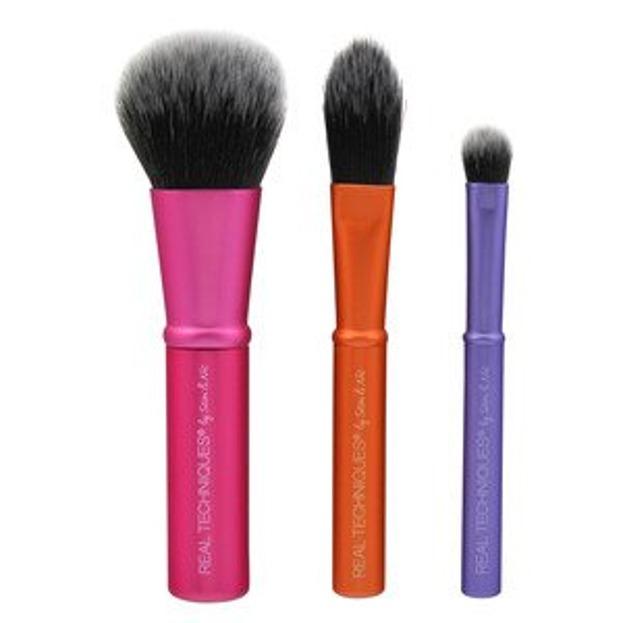 Real Techniques Mini Brush Trio Zestaw mini 3 pędzli do makijażu