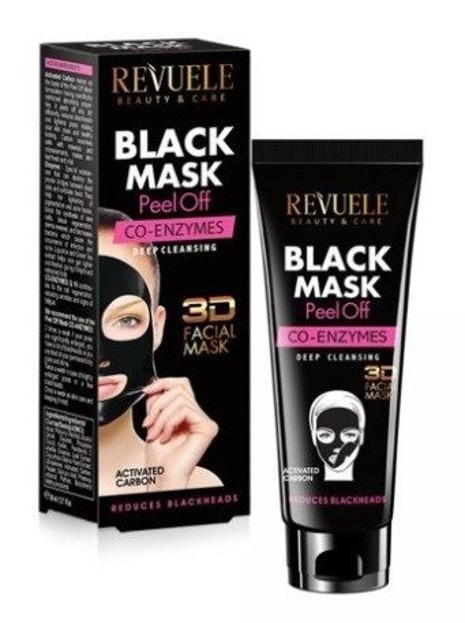 Revuele Black Mask 3D Koenzym Q10 Maska peel-off do twarzy 80ml