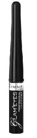 Rimmel Glam'eyes Liquid Liner - Płynny eyeliner do kresek 001 Black 3,5ml