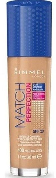 Rimmel Match Perfection Podkład do twarzy 400 Natural Beige 30ml