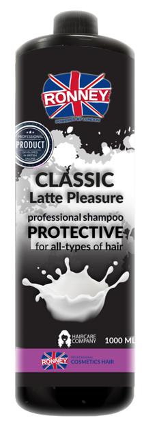 Ronney CLASSIC Latte Pleasure Protective Shampoo Szampon z proteinami 1000ml