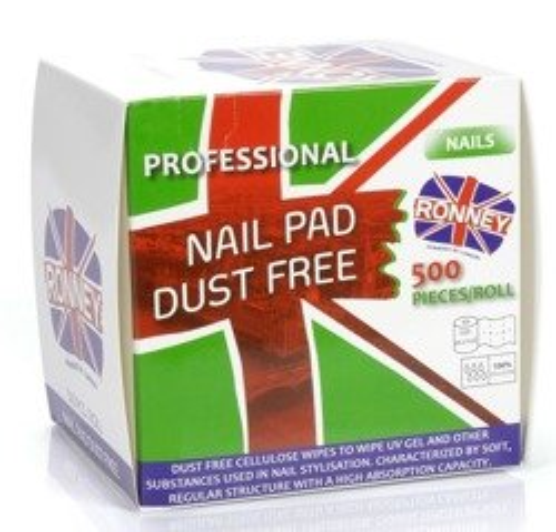 Ronney Nail Pad Dust Free Waciki bezpyłowe 500szt