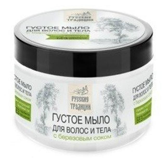 Rosyjskie gęste mydło do ciała i włosów z brzozowym sokiem 500ml