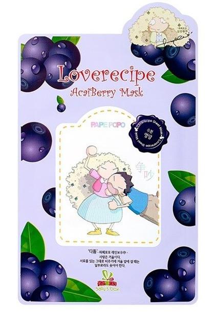 Sallys Box Loverecipe Acai Berry Mask Celulozowa maseczka w płachcie 20ml