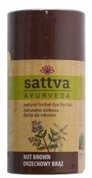 Sattva Naturalna ziołowa henna do włosów Nut Brown 150g