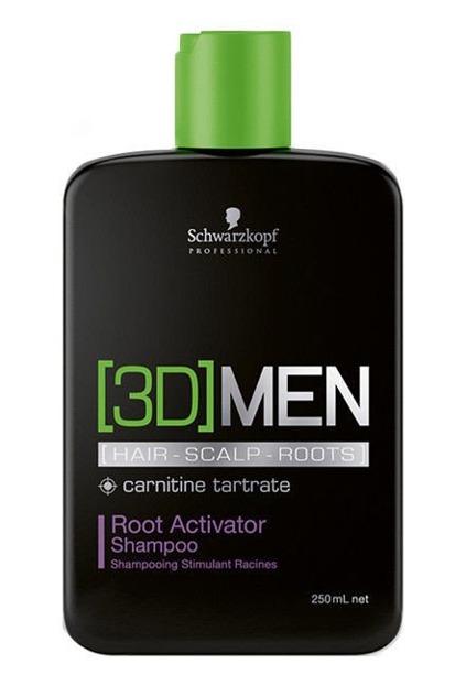 Schwarzkopf 3D Men Root Activator Shampoo - Szampon aktywizujący do włosów dla mężczyzn, 250 ml