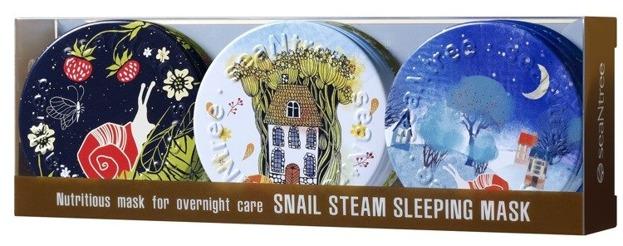 SeaNtree Snail Steam Sleeping Mas 3in1 Set Zestaw 3 maseczek całonocnych