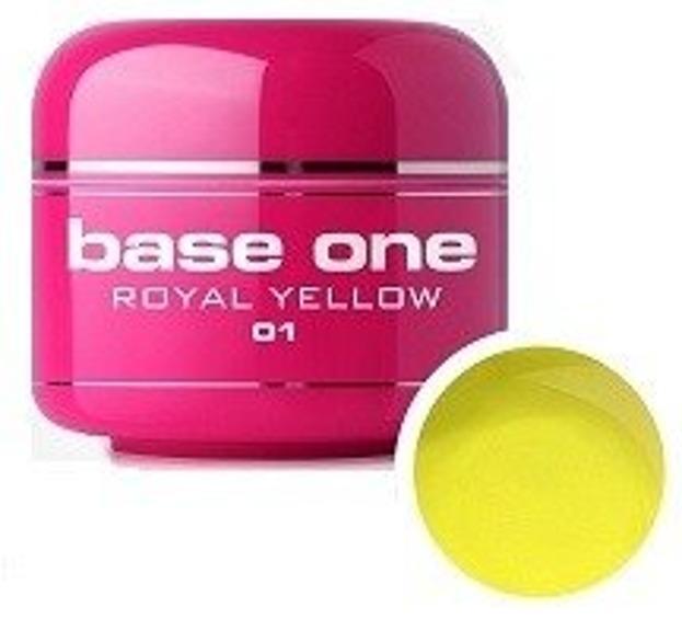 Silcare Base One Glass 01 Royal Yellow Żel kolorowy 5g
