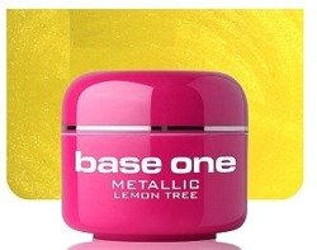 Silcare Base One Metalic 24 Lemon Tree Żel kolorowy 5g