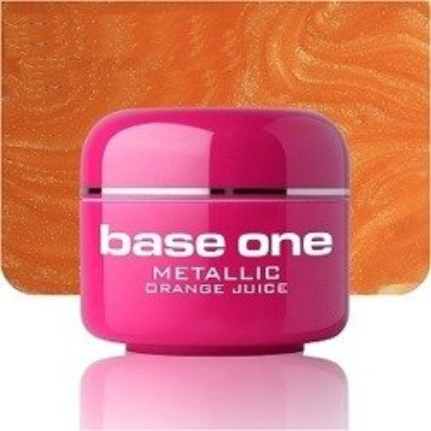 Silcare Base One  Metalic 28 Orange Juice Żel kolorowy 5g