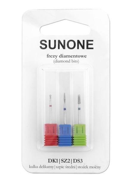 SunOne frezy diamentowe DK1/DSZ2/DS3 3szt