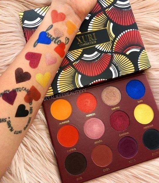 The Xuri Eyeshadow Palette Paleta 12 cieni do powiek