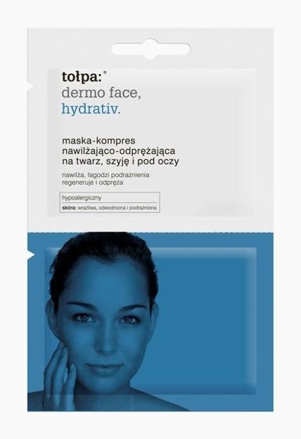 Tołpa HYDRATIV Maska-kompres nawilżająco-odprężająca na twarz, szyję i pod oczy