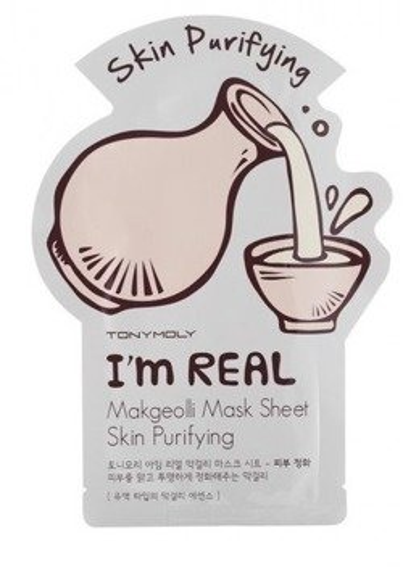 TonyMoly I'm Real Makgeoli Mask Sheet Purifying Oczyszczająca maska w płachcie
