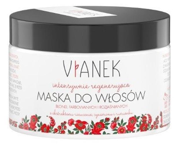 VIANEK Intensywnie pielęgnująca maska do włosów jasnych, farbowanych blond i rozjaśnianych 150ml