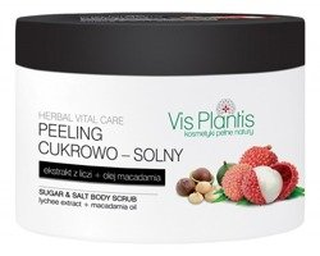 Vis Plantis Herbal Vital Care Peeling cukrowo-solny do ciała Ekstrakt z liczi 200ml