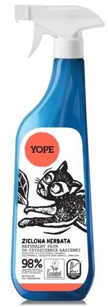 YOPE Naturalny płyn do czyszczenia łazienki Zielona herbata 750ml
