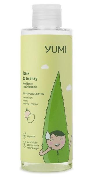 Yumi Rozświetlenie i nawilżenie Tonik 10% glukonolakton 200ml